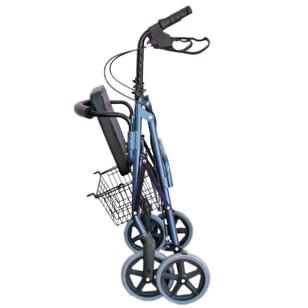 andador 4 ruedas, frenos, asiento canasto