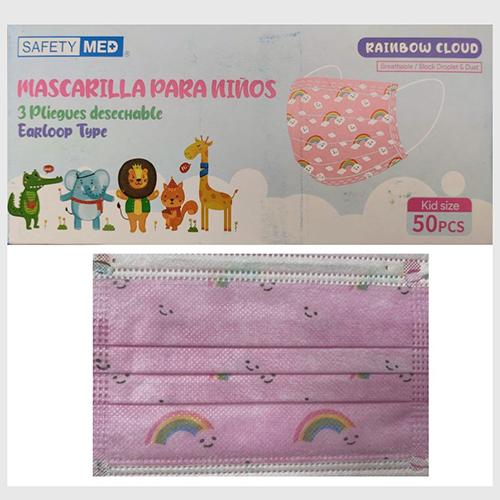 Mascarilla 3 Pliegues rosada