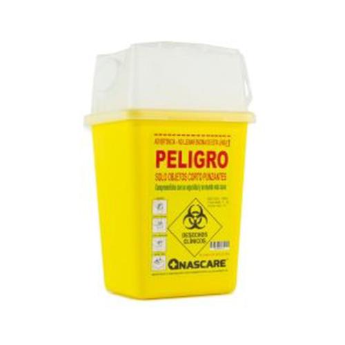 Caja desechos cortopunzante 1 litro
